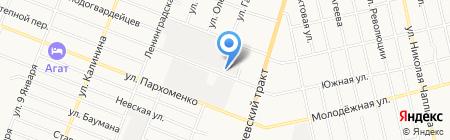 Фронталь на карте Тюмени
