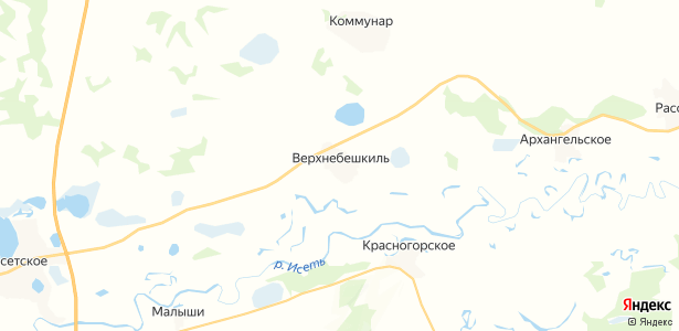 Верхнебешкиль на карте