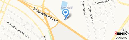 Аптека от склада на карте Тюмени