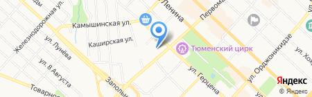 Методика на карте Тюмени