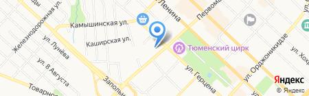 СТИВ на карте Тюмени