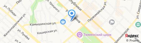 Тюменский цирюльник на карте Тюмени