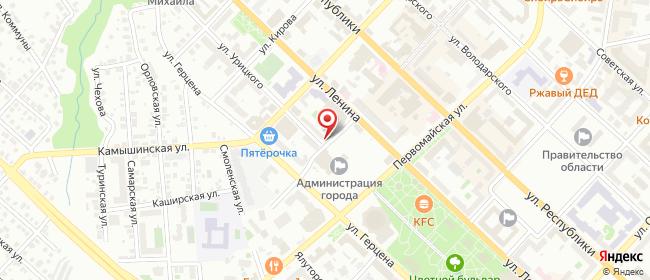 Карта расположения пункта доставки На Урицкого в городе Тюмень
