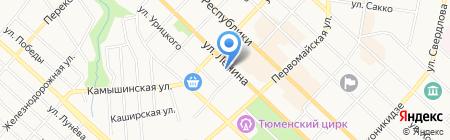 Новостройки Тюмени на карте Тюмени