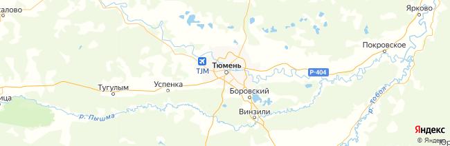 Тюменская область на карте