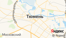 Хостелы города Тюмень на карте