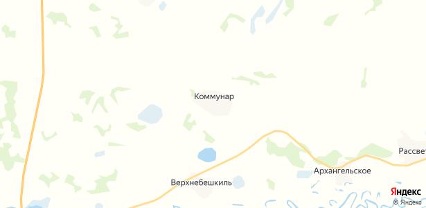 Коммунар на карте