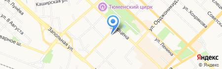 СибИнвестСтрой на карте Тюмени