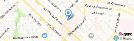 РСО на карте Тюмени