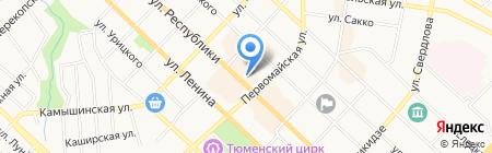 Defile на карте Тюмени
