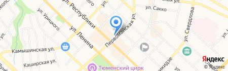 МегаТон на карте Тюмени