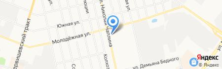 Гузель на карте Тюмени