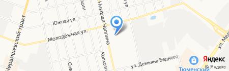 Продуктовый магазин на ул. Николая Чаплина на карте Тюмени