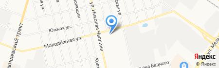 Ланаза на карте Тюмени