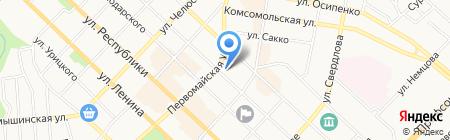Даймонд на карте Тюмени