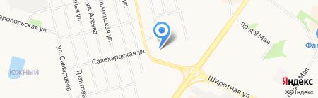 City на карте Тюмени