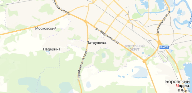 Патрушева на карте