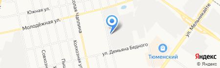 ТехСнабГрупп на карте Тюмени