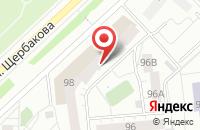 Схема проезда до компании Обувьпром в Тюмени