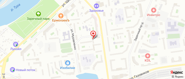 Карта расположения пункта доставки Тюмень Газовиков в городе Тюмень