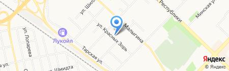 Ново-Проект на карте Тюмени