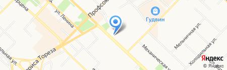 Олимпия на карте Тюмени