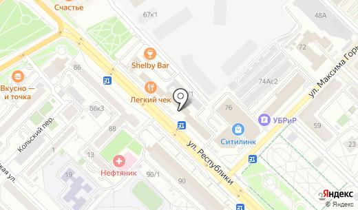Артлаб. Схема проезда в Тюмени