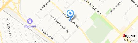 Бархат на карте Тюмени