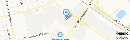 Берег-Тюмень на карте Тюмени