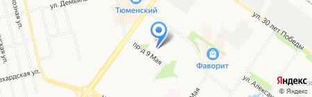 Детский сад №176 на карте Тюмени