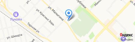 Белая Леди на карте Тюмени