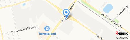 Автоцентр на карте Тюмени