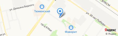 Улыбка на карте Тюмени