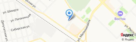 Автостоп на карте Тюмени