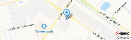 МонтажАвтоКомплектСервис на карте Тюмени