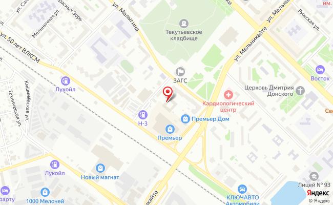 Карта расположения пункта доставки Тюмень Мельникайте в городе Тюмень