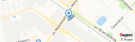 Сибкомплектресурс на карте Тюмени