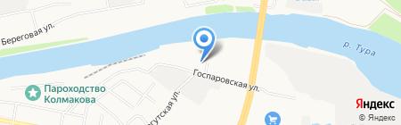 Биант на карте Тюмени