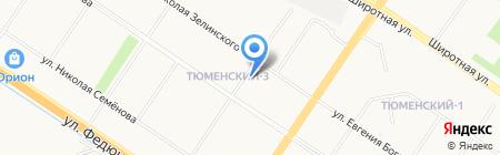 Жилой район АИЖК на карте Тюмени