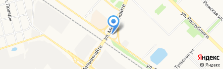 АвтоВосток на карте Тюмени