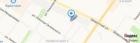 Авангард-Тюмень на карте Тюмени