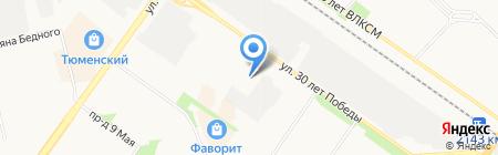 АвтоТрансПартнер на карте Тюмени