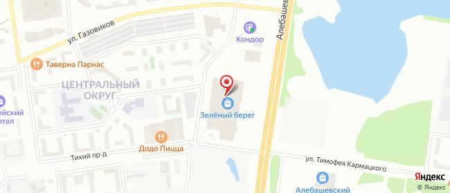 Карта расположения пункта доставки Тюмень Алебашевская в городе Тюмень