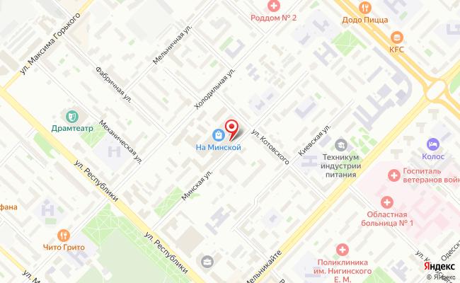 Карта расположения пункта доставки Тюмень Холодильная в городе Тюмень