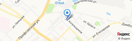 Город шин на карте Тюмени