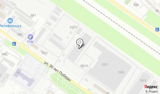 Вектор. Схема проезда в Тюмени