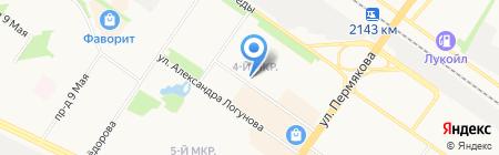Жасмин на карте Тюмени