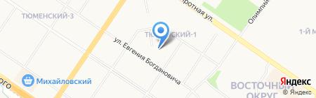 Средняя общеобразовательная школа №92 на карте Тюмени