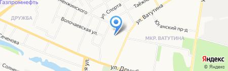 Olerush на карте Тюмени