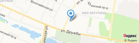Анель на карте Тюмени